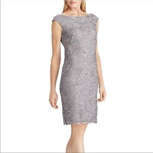 Ralph Lauren floral lace sheath dress